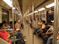 地下鉄電車の中