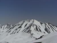 浄土山から臨む一ノ越から雄山頂上への尾根