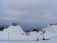 half pipe in snow